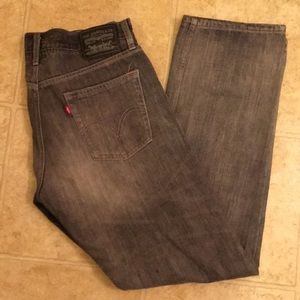 Gray And White Levi's